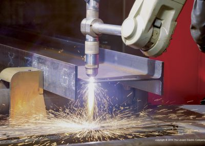 plasma cutting steel beam